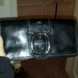 Leather Coach Clutch